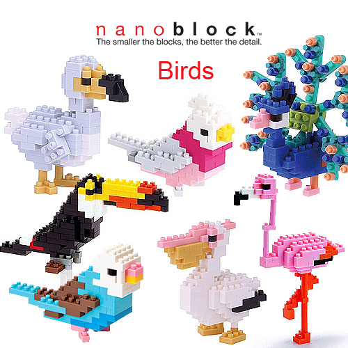 Nanoblock Satchel Sets Selection - Birds
