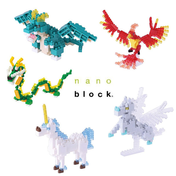 Nanoblock Satchel Sets Selection - Fantasy and Mythical Creatures