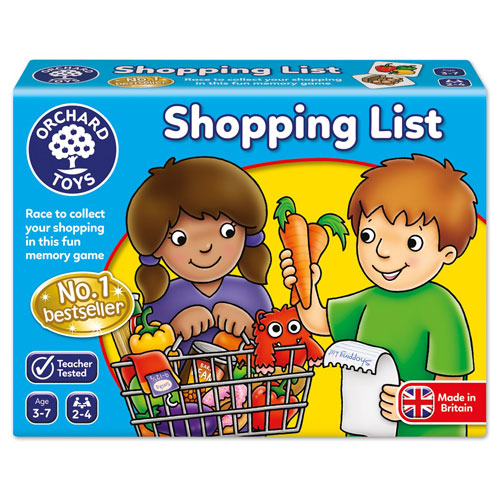 Orchard Toys Shopping List Memory Game (3-7 yrs, 2-4 players)