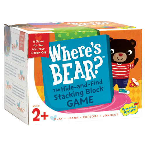 Where's Bear - Stacking Block Game (2+ yrs)