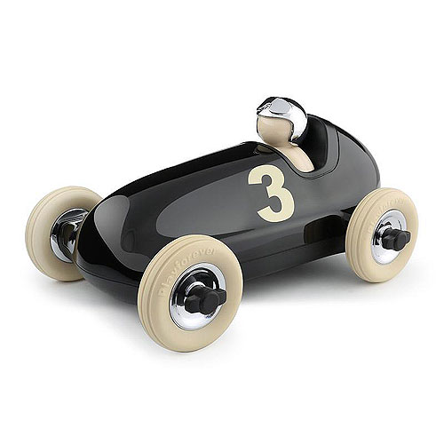 Playforever 106 Bruno No.3 Racing Car Black and Chrome (3+ yrs)