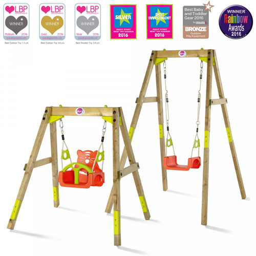 Plum Growing Wooden Swing Set (12 months+)