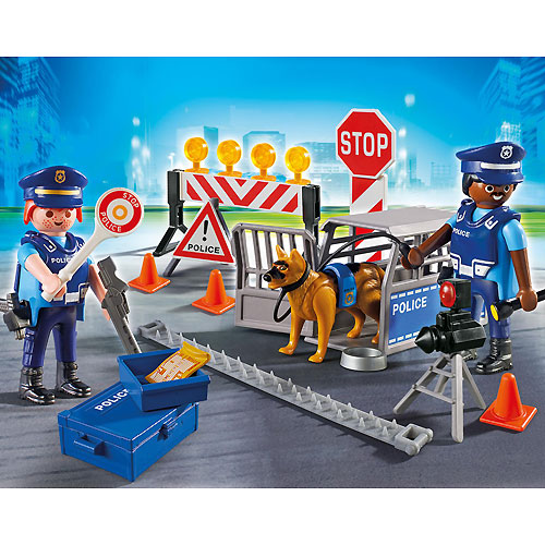 playmobil city action police roadblock - Playmobile Police