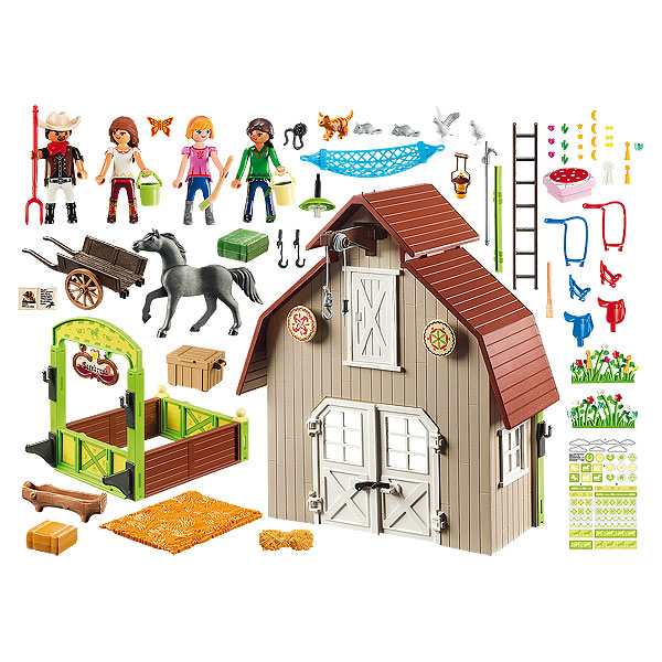 MADE IN AMERICA COUNTRY HORSE RIDE Dollhouse Art Picture FAST DELIVERY!!!