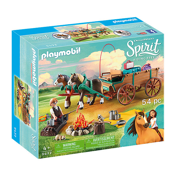 Playmobil Spirit Riding Free - Lucky's Dad and Wagon