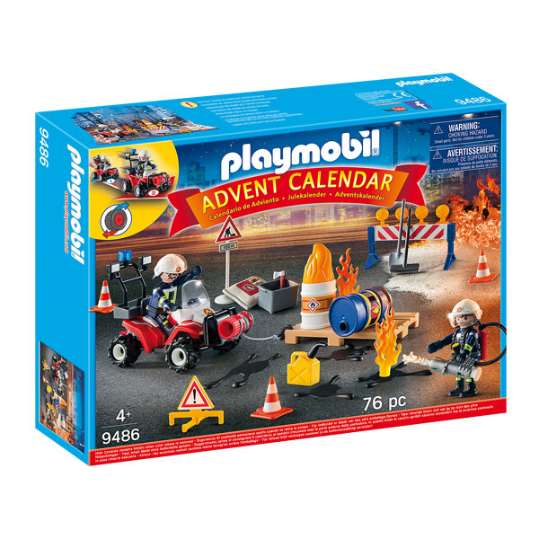 Playmobil Construction Site Fire Rescue Advent Calendar (4+ years)
