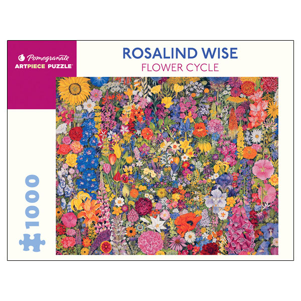 Pomegranate Puzzle:  Rosalind Wise - Flower Cycle (1000 piece)