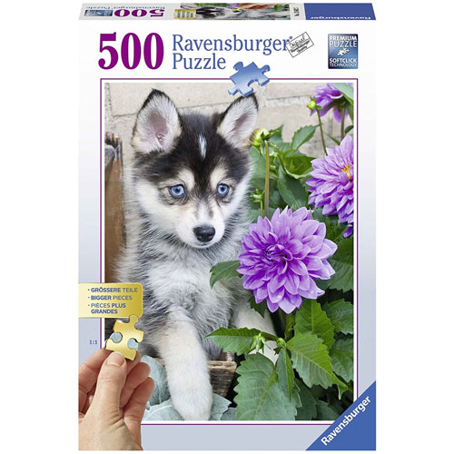 Ravensburger Cute Husky Dog Puzzle (500 pieces)