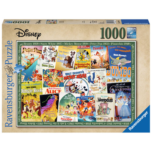 Ravensburger Disney Vintage Movie Poster Puzzle (1000 pieces)
