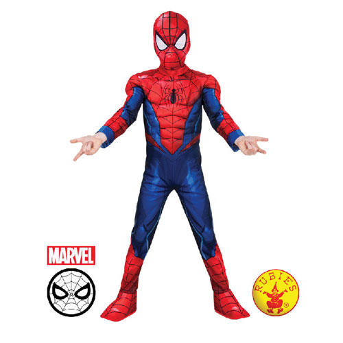 Marvel Deluxe Spider-man Child Costume - Size 3-5 (3 to 5 years)