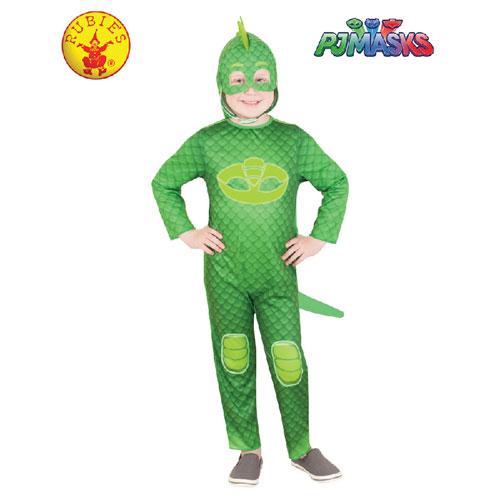 pj masks gekko glow in the dark costume size 3 5 3 to 5 years