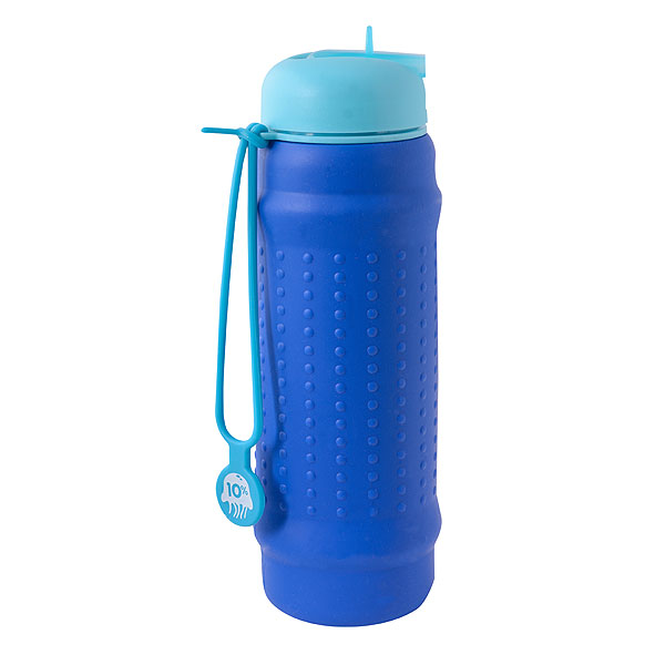 Rolla Bottle - Cobalt Body, Blue Lid and Aqua Strap