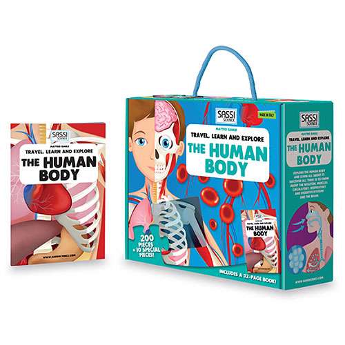 Sassi Junior - Explore the Human Body (200 pieces + book, 6+ yrs)