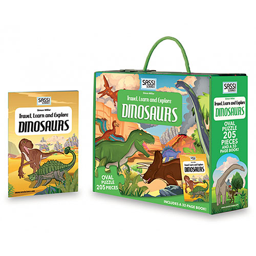 Sassi Junior - Travel, Learn and Explore Dinosaurs (205 pieces, 6+ yrs)