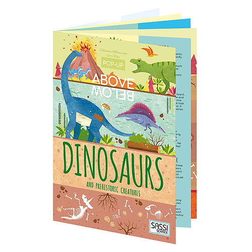Sassi Junior - Above & Below Dinosaur Pop-Up Book (6+ yrs)