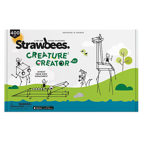 Strawbees Creature Creator Kit (400 pcs, 5+ yrs)