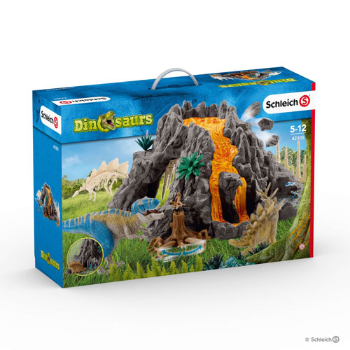 Schleich - Giant Volcano with T-Rex  (5+ years)