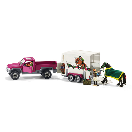 Schleich Pick-up Truck with Horse Box