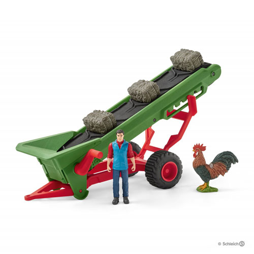 Schleich Farm - Hay Conveyor with Farmer Set