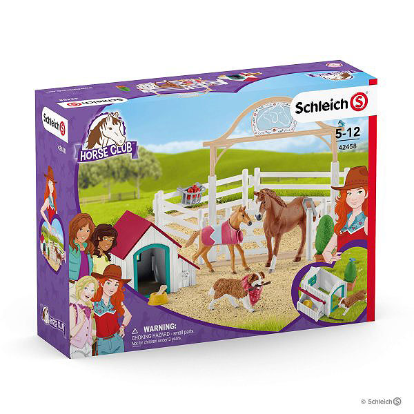 Schleich Hannah Guest Horses with Ruby the dog
