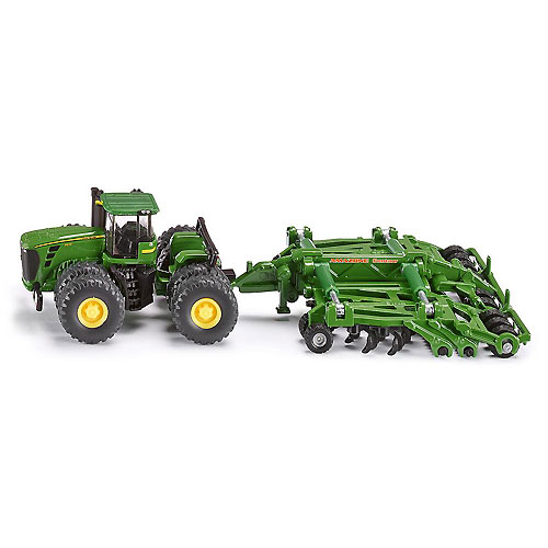 SIKU Diecast Farm Vehicle - John Deere 9630 Scraper Tractor with Amazone Centaur(1:87 Scale)