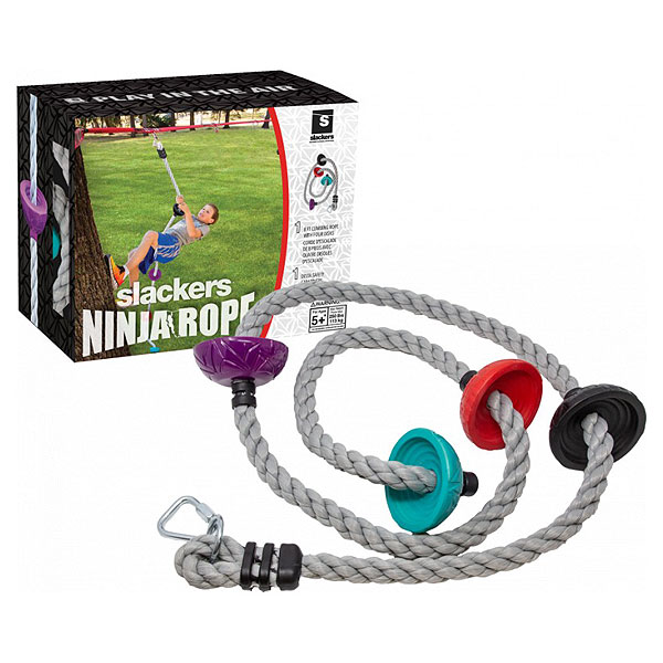 Slackers Ninja Rope 2.4m With Foot Holds (5+ yrs)