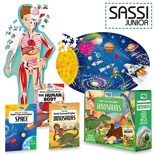 Sassi Junior Book and Puzzle Set Selection (3+ and 6+ yrs)