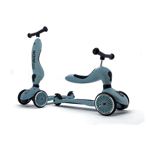 Scoot and Ride Highwaykick 1 - Steel Blue (1+ yrs)