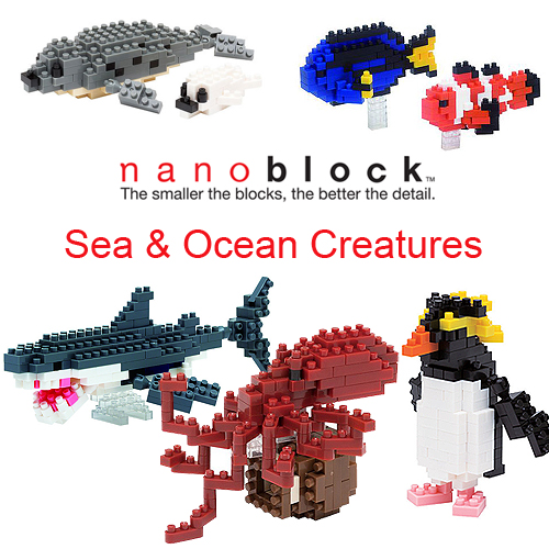 Nanoblock Satchel Sets Selection - Sea and Ocean Satchel Creatures