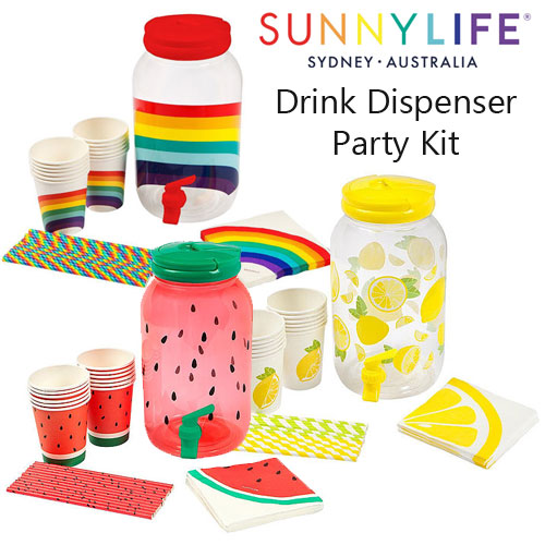 SunnyLife Drink Dispenser Party Kit Selection
