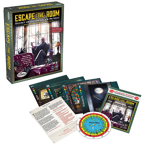 ThinkFun Escape The Room : Secret of Dr Gravely's Retreat (13+ yrs, 3-8 players)