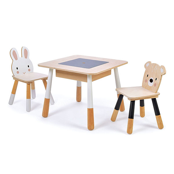 Tender Leaf Toys - Forest Wooden Table and 2 Chairs (3+ yrs)