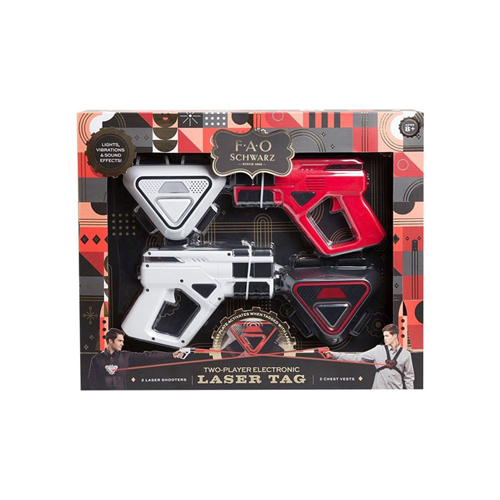 FAO Schwarz Toy Laser Tag Game - 2 Player Set (8+ years)