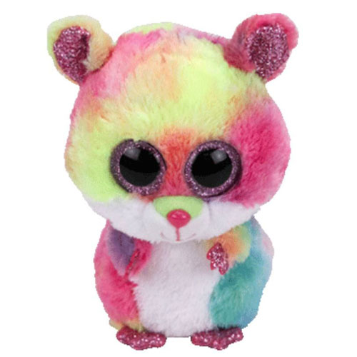 Ty Beanie Boos - Rodney Multi-Colour Hamster (Medium).  TY36214-RodneyMultiHamster b3b98238c4d4