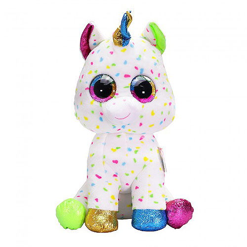 TY Beanie Boos Harmonie the Speckled Unicorn (Large) 0b8b3a54657