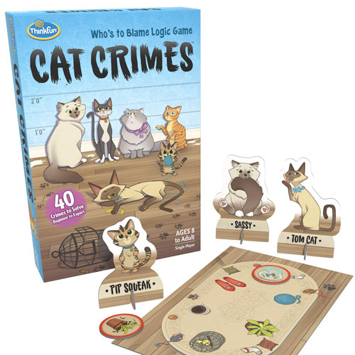 ThinkFun Cat Crimes Logic Game (8+ yrs, 1 player)