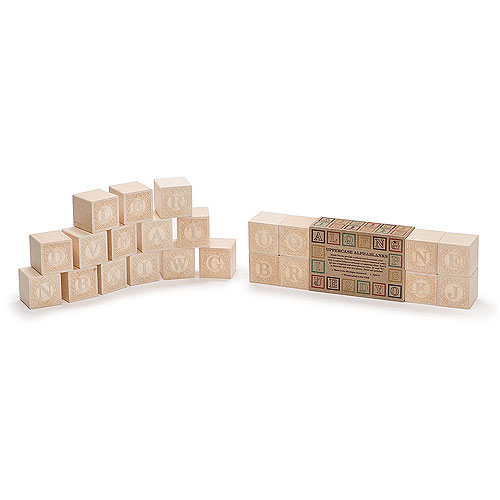 Uncle Goose Alphablanks Blocks - Uppercase (2+ yrs)