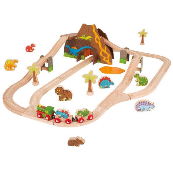 Bigjigs Rail - Dinosaur Train Set (49 pieces)