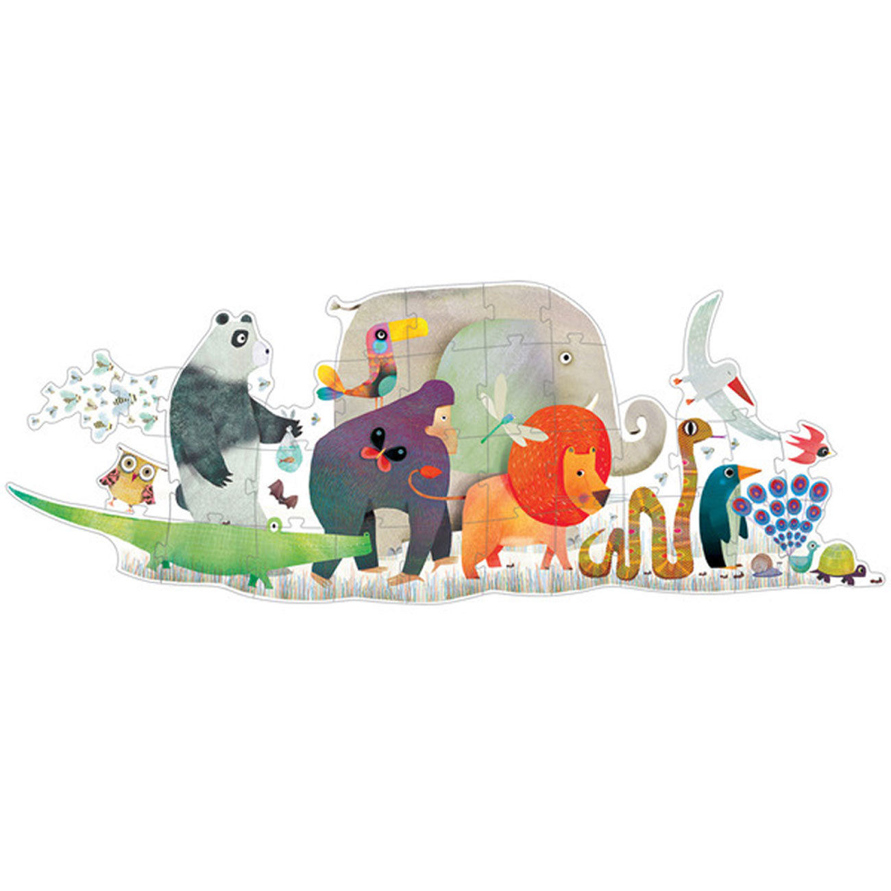 Animal Parade Giant Shaped Puzzle (36 pieces, 3-5 yrs)