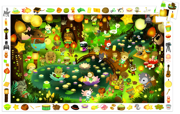 Party in Forest Observation Puzzle (35 pieces, 3-5 yrs)