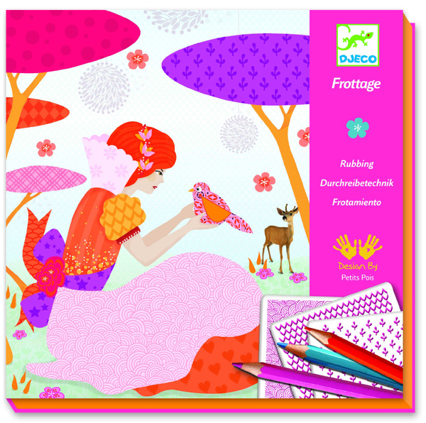 My Beautiful Dresses Rubbing Craft Kit by Djeco (4+ yrs)