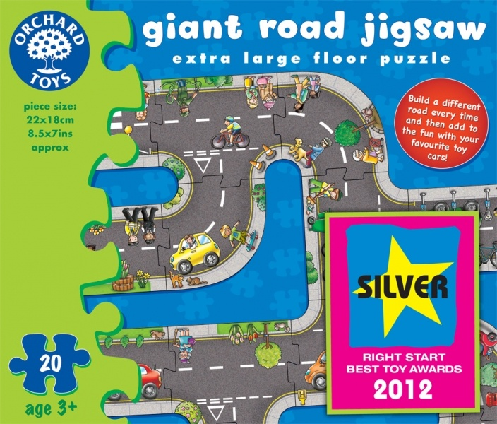 Giant Road Jigsaw by Orchard Toys (20 pieces, 3+ yrs)