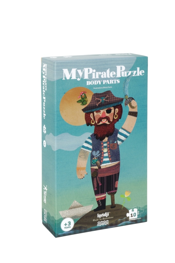 Pirate Puzzle by Londji (10 reversible pieces, 3-4 yrs)