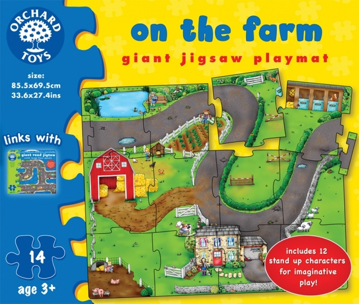 Giant On the Farm Jigsaw by Orchard Toys (14 pieces, 3+ yrs)