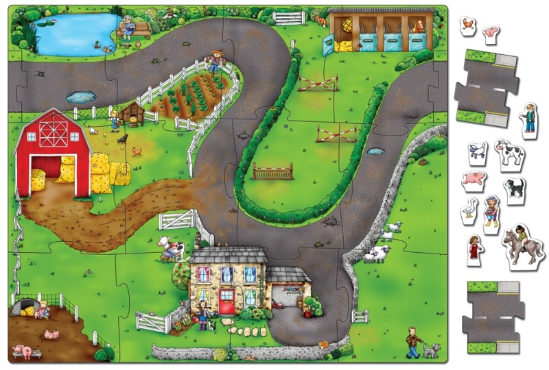 Giant on the farm jigsaw by orchard toys 14 pieces 3 yrs gumiabroncs Image collections