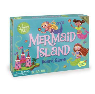 Mermaid Island Cooperative Board Game (5+ yrs, 2-6 Players)