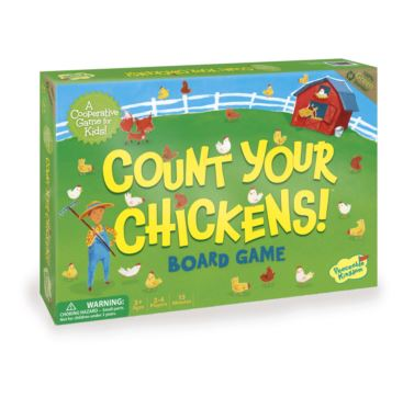 Count Your Chickens! Cooperative Board Game (3+ yrs, 2-4 Players)