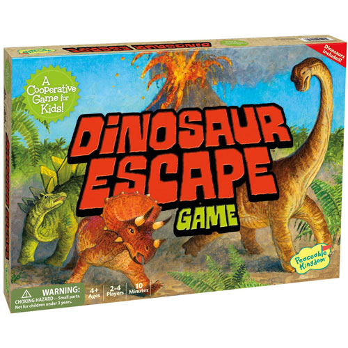 Dinosaur Escape Cooperative Board Game (4+ yrs, 2-4 Players)