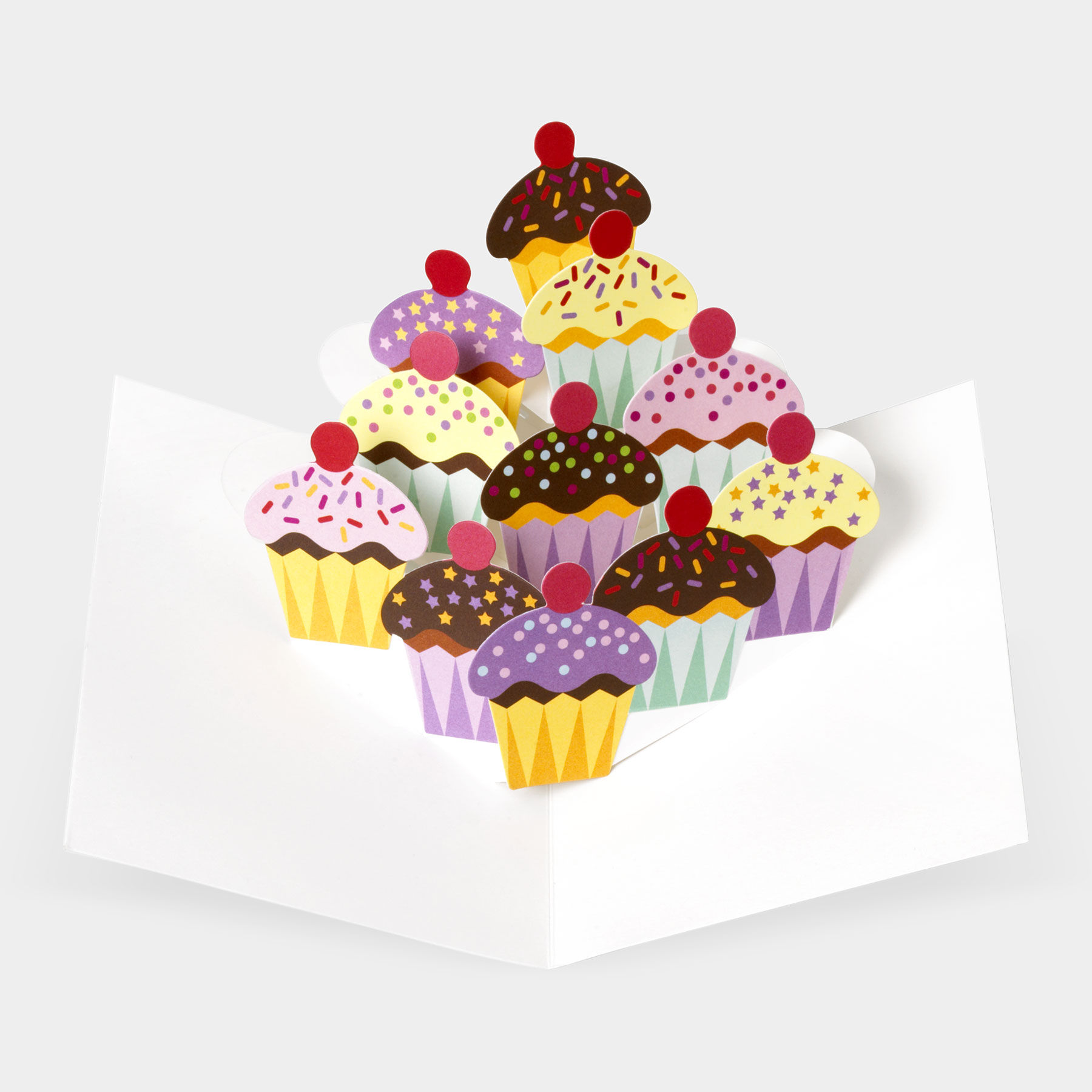 Sabuda Pop-Up Cupcakes Greeting Card