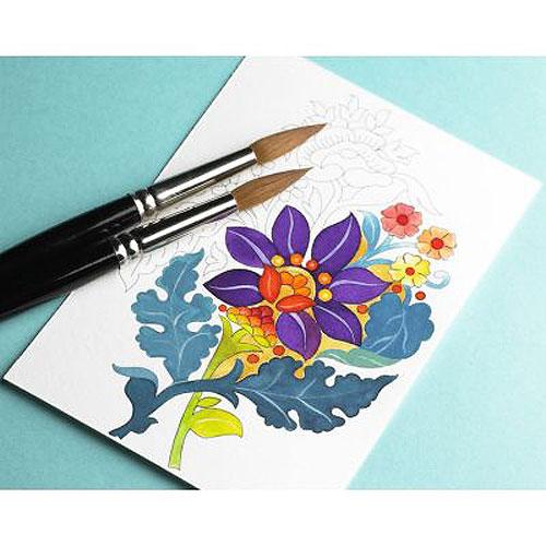 Pepin Press Colouring Postcard Book - India